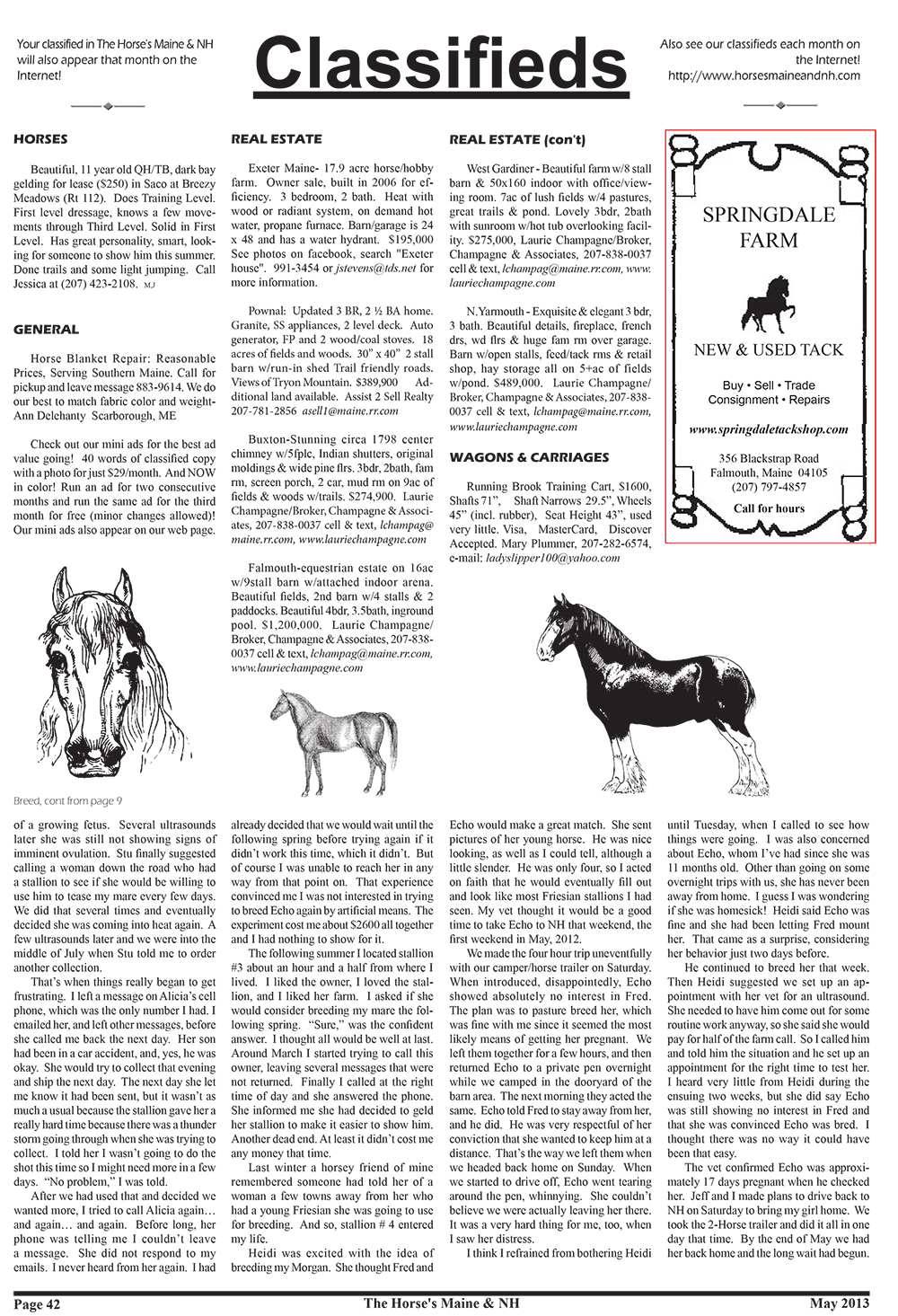 Horses Maine May Issue-42